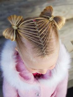 55 Gorgeous Feathered Dutch Braid with Bows for Kids 2018