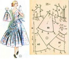 New Sewing Clothes Women Vintage Dresses Ideas - - New Sewing Clothes Women Vintage Dresses Ideas Source by heidisalokangas Vintage Dress Patterns, Barbie Patterns, Vintage 1950s Dresses, Vintage Outfits, Sewing Clothes Women, Diy Clothing, Clothing Patterns, Clothes For Women, 1950s Clothes