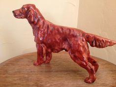 Vintage Royal Daulton Irish Setter Dog Figurine - Pat OMoy HN 1055 -Rare Collectible. $139.00, via Etsy.8.50