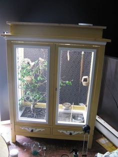 how to build an indoor bird aviary