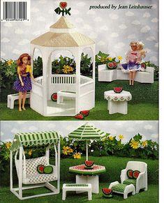 Fashion Doll Summer Garden in Plastic Canvas Pattern 3121 American School of Needlework.