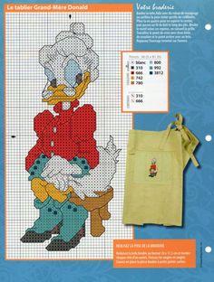 Cross Stitch Disney, Disney Cross Stitch Patterns, Cute Cross Stitch, Dagobert Duck, Donald And Daisy Duck, Stitch Cartoon, Mickey Mouse And Friends, Disney Crafts, Plastic Canvas Patterns