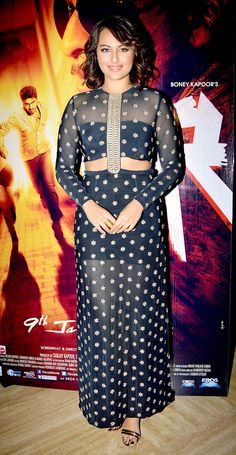 Sonakshi Sinha at the launch of 'Radha Nachegi' song from 'Tevar'. Love her short hair!!