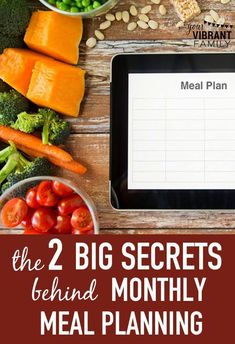 About 5 years ago I finally began implementing monthly meal planning. Gone was the guesswork of what to eat and what we would make it with. The decision had been made and the supplies were there just wanting to be cooked. Here are the 2 BIG secrets I've learned on how to make monthly dinner meal planning a reality!