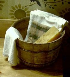 The old barrel works great for all the laundry 'stuff''.....................