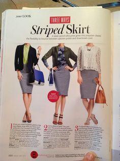 Striped skirt 3 ways