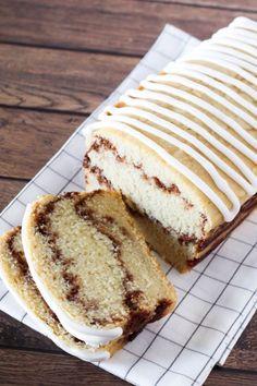 Gluten Free Vegan Cinnamon Swirl Quick Bread. It may even qualify as cake