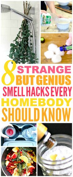 These 8 genius scent and smell hacks are THE BEST! I'm so glad I found these GREAT tips! Now I have some great ways to deodorize rooms and make my home smell amazing! Definitely pinning!