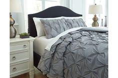 Rimy 3-Piece Queen Comforter Set by Ashley HomeStore, Gray, Cotton (100 %)