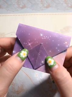 Origami wallet handmade video tutorial - My best diy and crafts list Diy Crafts Hacks, Diy Crafts For Gifts, Diy Home Crafts, Diy Arts And Crafts, Creative Crafts, Crafts For Kids, Jar Crafts, Sewing Crafts, Diy Projects
