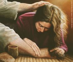 """Til He Appeared"" Figurative/Portrait/Christian Art, the woman who washed Jesus' feet Diana Moses Botkin -- Diana Moses Botkin Saint Mary Magdalene Pictures Of Christ, Religion, Christian Artwork, Bride Of Christ, Prophetic Art, Biblical Art, Mary Magdalene, Bible Stories, Bible Art"