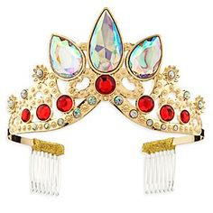 Rapunzel Tiara for Kids - Tangled: The Series   Disney Store Whether your little royal sports 70 ft. of golden hair or a short bob, the finishing touch to any regal ensemble is this dazzling, bejeweled, fit-for-a-princess Rapunzel tiara!