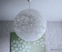 DIY Random Light Inspirerad Lampa To make your own random light-inspired lamp, you only need four things: - Pilates ball - Wallpaper paste - Paper Yarn Ceiling, Lamp, Decor, Yard Decor, Diy Lighting, Homemade Lamps, Ball Lights, Home Decor, Ceiling Lights