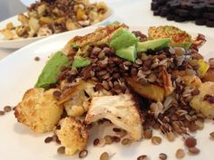 Garlic Roasted Vegetables with Lentils More