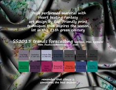 SS2015 trends forecasting for Women, Men Apparel - High performed material with Heart beating Fantasy art design by Eco-Friendly print techn...