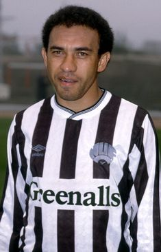 23 April 1988 - Football League Division One - Charlton Atheltic v Newcastle United - Mirandinha of Newcastle. Get premium, high resolution news photos at Getty Images Retro Football, Football Shirts, Newcastle Shirt, Newcastle United Football, Dundee, Black N White, Division, 1980s, Army
