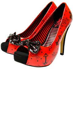 IRON FIST/SOURPUSS SIREN HEELS...these look like they belong on a Sailor Jerry pin-up girl <3 them