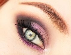 Makeup look perfect for green eyes made mostly with grey and purple eyeshadows where main role plays probably the most beautiful MUG eyeshadow - Rockstar. Makeup Geek, Diy Makeup, Makeup Tips, Beauty Makeup, Fall Makeup, Makeup Ideas, Pretty Makeup, Love Makeup, Makeup Looks