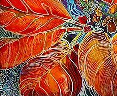 """""""Poinsettia Batik (detail)"""" par Marcia Baldwin"""