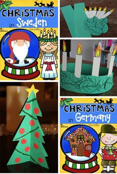 Christmas Around the World Unit! So many interactive resources. A top 50 TpT resource! Around The World Theme, Celebration Around The World, Holidays Around The World, Christmas Around The World Sweden, Sweden Christmas, Christmas In Germany, Christmas Activities, Christmas Themes, Christmas Program