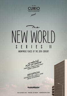 New world poster design