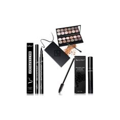 QiBest Eyes Makeup Set (31 BAM) ❤ liked on Polyvore featuring beauty products, makeup, eye makeup, white and pen eyeliner