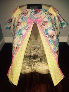 Peekaboo carseat canopy cover minnie mouse by LilacsAndLeopards