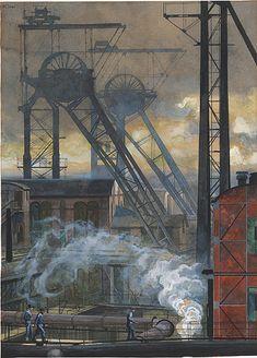 Heinrich Kley - The coal mine Westphalen in Ahlen