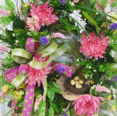 X Large Spring & Summer Outdoor Wreath by LadybugWreaths, $229.97
