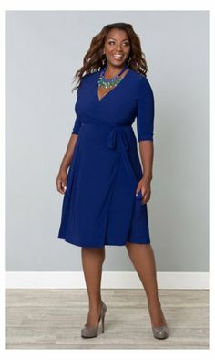 curvety.com has lots of dresses from basic to occasion cut for a fuller figure