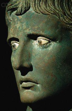 Bronze Head of Augustus Caesar