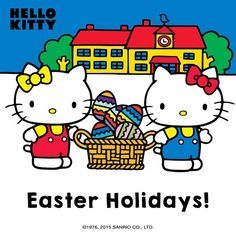 "21 Likes, 4 Comments - Hello Kitty (@wearehellokitty) on Instagram: ""Enjoy your Easter holidays!! #easter2015 #easterholidays #hellokittyeaster #chocolate"""
