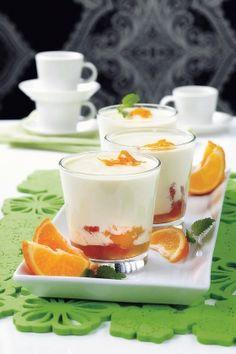 Appelsiini-jogurttipannacotta | K-Ruoka #italia #pääsiäinen