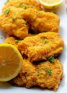 Spicy Oven Fried Catfish ~ LOVE some baked fish! Fish Dishes, Seafood Dishes, Seafood Recipes, Cooking Recipes, Healthy Recipes, Main Dishes, Fried Catfish Recipes, Fried Catfish Nuggets, Catfish Nuggets Recipes