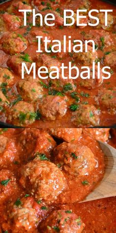 The BEST Italian Meatballs Recipe. This is the best classic meatballs recipe and I invite you to try them and let me know. These meatballs are tender, juicy, and made with simple ingredients for the best flavor. Meat Recipes, Crockpot Recipes, Chicken Recipes, Dinner Recipes, Cooking Recipes, Meatloaf Recipes, Dinner Crockpot, Barbecue Recipes, Kitchen Recipes