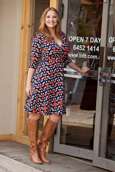 Boom Shankar 50s dresses Emily Wrap Dress - Womens Dresses at Birdsnest Women's Clothing