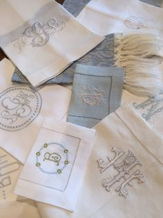 Monogrammed Linens Embroidery Monogram, Embroidery Fonts, Machine Embroidery, Embroidery Designs, Monogram Styles, Monogram Fonts, Hotel Collection Bedding, Linen Bedding, Bed Linens