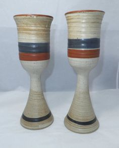 Vintage Art Pottery - 1970s Mid Century Pottery, Retro Pottery Chalice, Signed Collectible, New Mexican Art