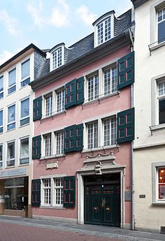 Beethoven House in Bonn, Germany is where Beethoven was born in 1770.