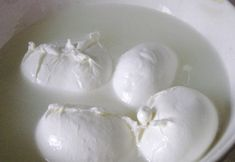 Mozzarella is traditionally produced solely from the milk of the buffalo. Burrata starts out much like mozzarella with rennet used to curdle the warm milk. Mozarella Cheese Recipe, Mozzarella Curd, Recipes With Mozzarella Cheese, Cheese Recipes, Recipe Using Milk, Curd Recipe, Cheese Curds, Homemade Cheese, How To Make Cheese