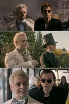 Crowley is almost always to Aziraphale's left (except when driving the Bentley) Good Omens Bonus – Not to make a long post even longer, but also: Freddie Mercury, Best Series, Tv Series, Good Omens Book, A Discovery Of Witches, His Dark Materials, Michael Sheen, This Is A Book, Neil Gaiman