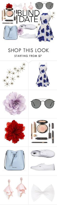 """""""Blind Date"""" by amy-y10 ❤ liked on Polyvore featuring Global Views, Cara, Ray-Ban, Gucci, Armani Jeans, Vans and Oscar de la Renta Pink Label"""