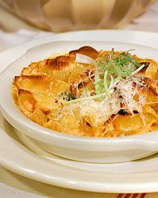 Baked Pasta with Tomato, Cream, and Five Cheeses .This classic dish from George Germon and Johanne Killeen's Al Forno restaurant in Providence, Rhode Island, is a favorite among their patrons.
