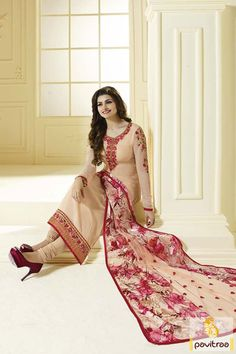Famous Bollywood actress Prachi Desai peach santoon party salwar suit online surat India. Purchase designer embroidery salwar suit with either this retail and wholesale price. Diwali Special Discount Offer: 5% OFF FOR Buy 1 Product 10% OFF FOR Buy 2 Product 15% OFF FOR Buy 3 Product or more #salwarsuit, #salwarkameez, #bollywoodsalwarsuit, #churidarsalwarsuit, #partywearsalwarsuit, #designersalwarsuit http://www.pavitraa.in/store/bollywood-salwar-suit/ callus: 91-7698234040