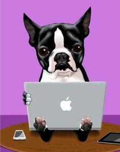 Tote Bag - Funny Boston Terrier Tote by VIDA VIDA ObGVIn