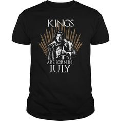 Kings are born in July Game of Thrones T-shirt, Hoodie, Tank top