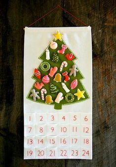 navidad calendario adviento para niños manualidades navidad xmas tree fieltro decoración