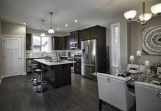 Duplex Showhome - Vesta Collection at Coopers Crossing in Airdrie Alberta Kitchen, Table, Furniture, Collection, Design, Home Decor, Cooking, Decoration Home, Room Decor