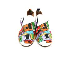 African Print Baroques Shoes. handmade in Cape Town by Coast and Koi Shoes . www.coastandkoi.com