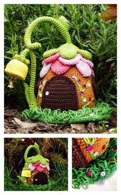 Crochet Adorable Fairies Cottage Pattern - paid pattern